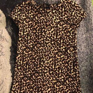 Old Navy 4T Tan Leopard Print Dress